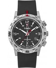 Timex Intelligent Quartz T2P285 Mens Compass Black Silicone Strap Watch