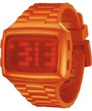 LED LED-OE-STP Unisex Digital Orange Dial And Pu Strap Watch