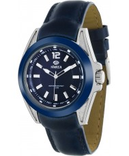 Marea 54048-2 Mens Fashion Navy Piel Leather Strap Watch