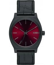Nixon A045-1886 Mens Time Teller Black Gator Tapered Strap Watch