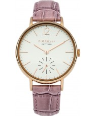 Fiorelli FO018PRG Ladies Pink Leather Strap Watch