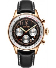 Dogfight DF0035 Mens Wingman Black Leather Chronograph Watch