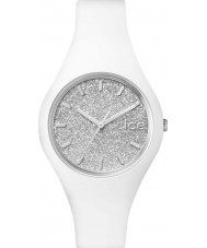 Ice-Watch 001344 Ladies Ice-Glitter White Silicone Strap Small Watch