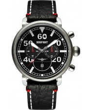 Dogfight DF0012 Mens Ace Black Leather Chronograph Watch
