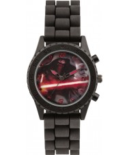 Star Wars SWM3053 Boys Kylo Ren Watch with Black Silicone Strap