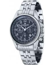 Thomas Earnshaw ES-8028-22 Mens Commodore Silver Steel Chronograph Watch