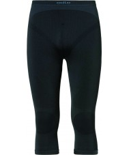 Odlo 180932-15000-XL Mens Evolution Three-quarter Black Baselayer Pant - Size XL