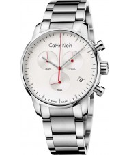 Calvin Klein K2G271Z6 Mens City Silver Steel Chronograph Watch