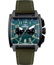 Dogfight DF0004 Mens Experten Green Fabric Chronograph Watch