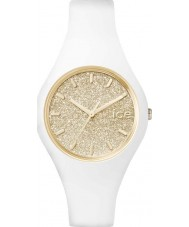 Ice-Watch 001345 Ladies Ice-Glitter White Silicone Strap Small Watch