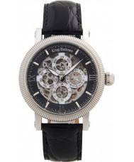 Krug Baümen 60211KM Mens Majestic Black Leather Strap Watch