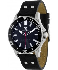 Marea 54049-1 Mens Fashion Black Piel Leather Strap Watch