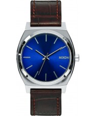 Nixon A045-1887 Mens Time Teller Brown Gator Tapered Strap Watch
