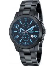 Swiss Eagle SE-9054-AA Mens Weisshorn Black Steel Chronograph Watch