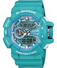 Casio GA-400A-2AER Mens G-Shock Turquoise Resin World Time Combi Watch
