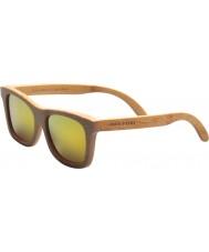 Swole Panda Carbonized Polarized Bamboo Wayfarer Sunglasses