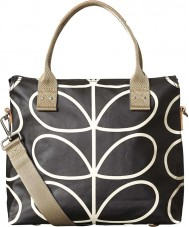 Orla Kiely 0ETCLIN100 Ladies Giant Linear Stem Liquorice Zip Satchel