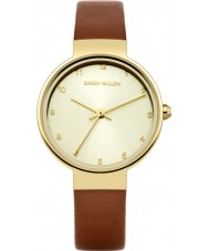 Karen Millen KM131TG Ladies Brown Leather Strap Watch