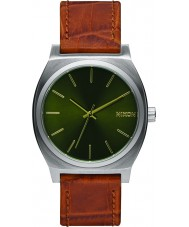 Nixon A045-1888 Mens Time Teller Saddle Gator Tapered Strap Watch