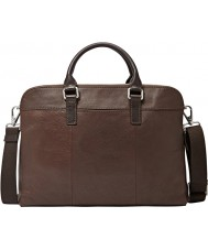 Fossil MBG9063200 Mens Mercer Brown Double Zip Work Bag