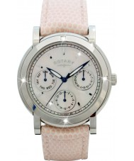 Rotary RLS00024-07-W Ladies Timepieces White Leather Strap Chronograph Watch