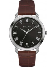 Bulova 96A184 Mens Dress Brown Leather Strap Watch