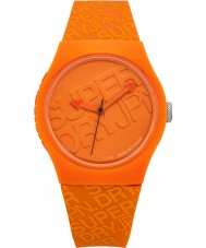 Superdry SYG169O Urban Orange Silicone Strap Watch with Printed Logo in Orange