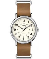 Timex Originals T2P492 Weekender Brown Leather Strap Watch