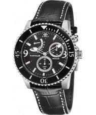 Thomas Earnshaw ES-8008-01 Mens Admiral Black Croco Leather Strap Watch