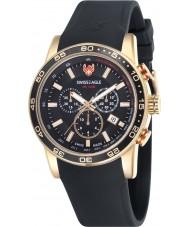 Swiss Eagle SE-9057-04 Mens Field Terrain Black Chronograph Watch