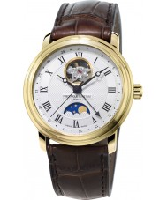 Frederique Constant FC-335MC4P5 Mens Classics Moonphase Brown Leather Strap Watch