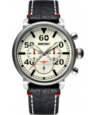 Dogfight DF0013 Mens Ace Black Leather Chronograph Watch