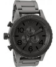 Nixon A083-1062 Mens 51-30 Matte Black Steel Chronograph Watch