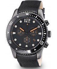 Elliot Brown 929-004-L01 Mens Bloxworth Black Leather Chronograph Watch