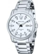 Swiss Eagle SE-9056-22 Mens Zermatt White Steel Bracelet Watch