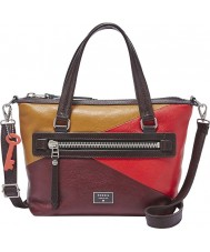 Fossil ZB6656995 Ladies Dawson Red Multicolour Satchel