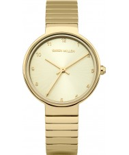 Karen Millen KM131GM Ladies Gold Plated Bracelet Watch