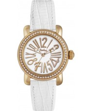 Pocket PK1010 Ladies Rond Crystal Petite White Watch