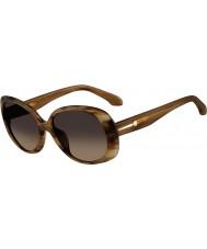 Calvin Klein Platinum Ladies CK4182S Horn Sunglasses