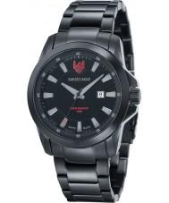 Swiss Eagle SE-9056-55 Mens Zermatt Black Steel Bracelet Watch