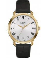 Bulova 97A123 Mens Dress Black Leather Strap Watch