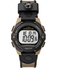 Timex TW4B07800 Mens Pusher Brown Resin Chronograph Watch