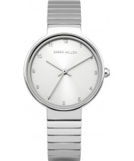 Karen Millen KM131SM Ladies Silver Steel Bracelet Watch