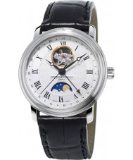 Frederique Constant FC-335MC4P6 Mens Classics Moonphase Black Leather Strap Watch