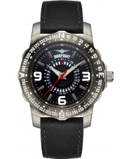 Dogfight DF0014 Mens Ace Black Leather Strap Watch