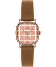 Orla Kiely OK2056 Ladies Cecelia Pink Flowery Tan Leather Strap Watch