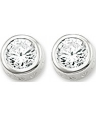Thomas Sabo H1663-051-14 Ladies Silver Stud Earrings with White Zirconia
