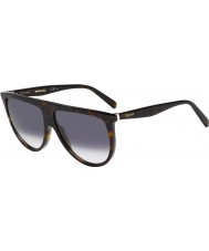Celine Ladies CL 41435-S 086 W2 Dark Havana Sunglasses