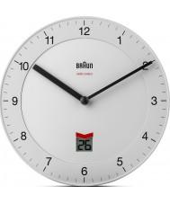 Braun BNC006WHWH-MSF Radio Controlled Wall Clock - White