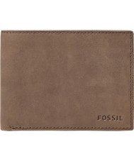 Fossil ML3446200 Mens Nova Brown Leather L-Zip Bifold Wallet